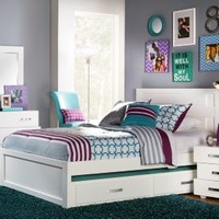 Quake White 3 Pc Full Panel Bed