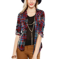 Papaya Clothing Online :: plaid blouse