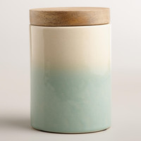 Aqua Dipped Ceramic Canister - World Market