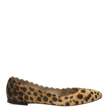 Lauren leopard calf-hair flats