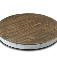 Vintage Wine Barrel Lazy Susan