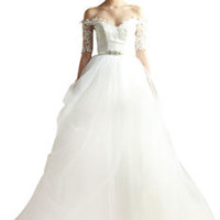 Chiffon Sweetheart Wedding Gown