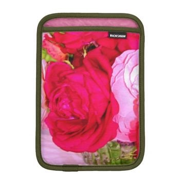 Make Mine Pink Roses 1 iPad Mini Sleeve Vertical
