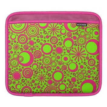 Rounds, Pink-Green iPad Sleeve Horizontal