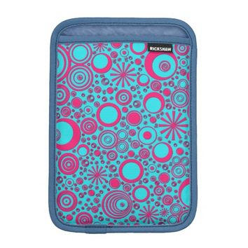 Rounds, Pink-Aqua iPad Mini Case Vertical