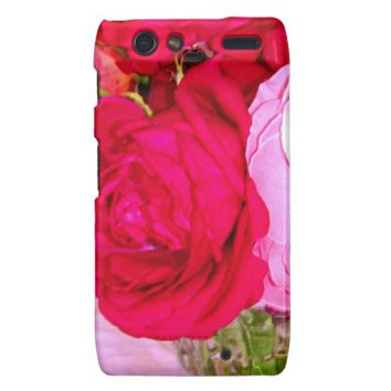 Make Mine Pink Roses Motorola Droid Razr Case