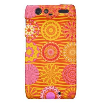 Kaleidoscope Fun, Pink-Orange Motorola Droid Razr