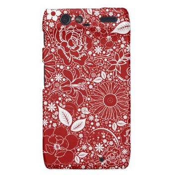Botanical Beauties Red Motorola Droid Razr Case