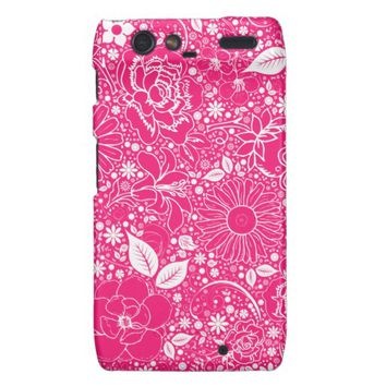 Botanical Beauties Hot Pink Motorola Droid Razr
