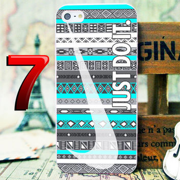 Aztec Pattern on  Just Do It Phone Case For iPhone 4 4s 5 5s 5c iPod 2 iPod 4 iPod 5 Samsung Galaxy  s3/s4/s5