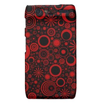 Rounds, Red-Black Motorola Droid Razr Casee
