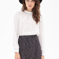 Faux Leather & Tweed Skirt