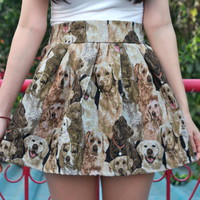 Glitters For Dinner — Puppies Tapestry Mini Skirt