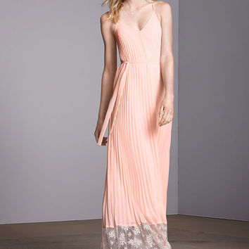 Lace-inset Knife-pleat Maxi Dress - Victoria's Secret