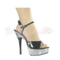 Sexy PU Platform High Heels Fashionable Summer Sandals Silver [TQL120323005] - £52.59 :