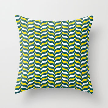 Broccoli and Cheese Mod Throw Pillow by Ashley