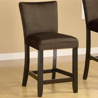 "SAVE Bloomfield 24"" Microfiber Bar Stools - Set of 2"