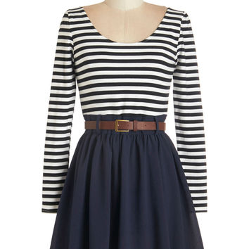 ModCloth Long Sleeve Department Director Dress