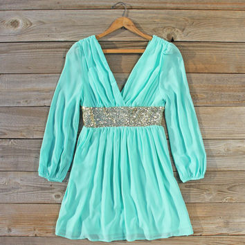 December Snow Dress in Mint