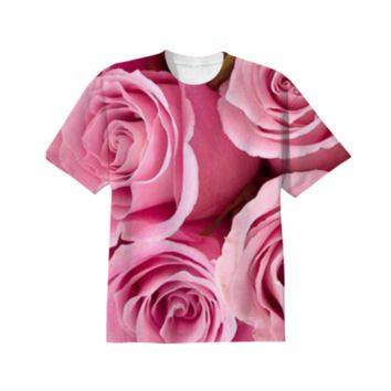 Pink Roses T-Shirt created by ErikaKaisersot | Print All Over Me