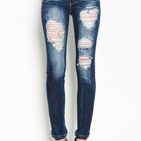 High Waist Destroyed Skinny Jeans - LoveCulture
