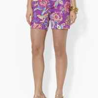 Floral Cotton Sateen Short