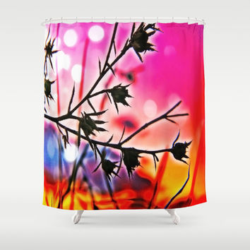 The Lovely Weeds Shower Curtain by DuckyB (Brandi)