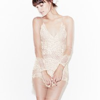 For Love & Lemons Antigua Mini Dress in White