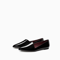 ASYMMETRICAL CUT SLIP-ON