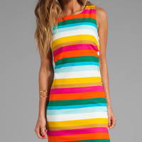 Trina Turk Skooter's Stripe Cotton Emmie Dress in Yellow