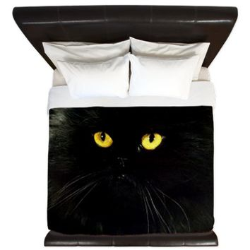 Black Cat King Duvet