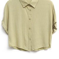 Candy Color Cropped Shirts