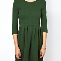 Ganni Structured Skater Dress at asos.com