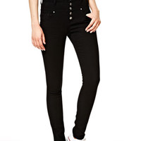 Skylar High-Rise Skinny Jeans in Black
