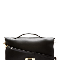 Sophie Hulme Black Leather Messenger Bag