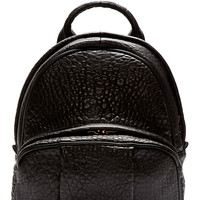 Alexander Wang Black Grained Leather Dumbo Backpack