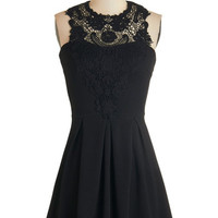 Sleeveless A-line Noir and Away Dress