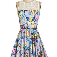 Closet Sleeveless A-line Bloom for More Dress
