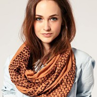 River Island | River Island Orange Print Snood at ASOS
