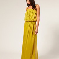 ASOS | ASOS Skinny Strap Chiffon Maxi Dress at ASOS