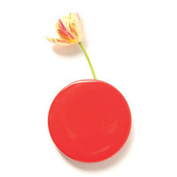 Polka Dot Wall Vase - Red