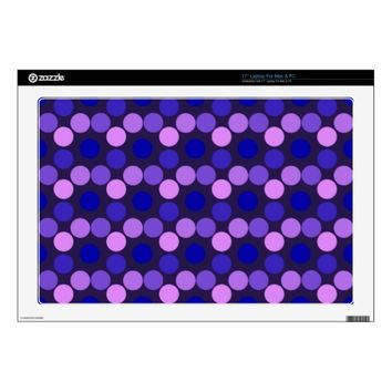 "Seeing Dots Purple and Pink 17"" Laptop Skin"