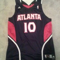 Atlanta Hawks Mike Bibby Adidas Swingman Jersey NBA Size Medium  Authentic