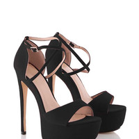 Patsy Platform Party Stiletto in Black