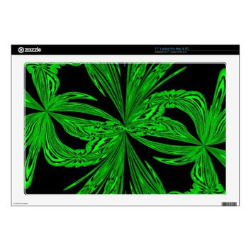 Abstract Botanical Neon Laptop Skins