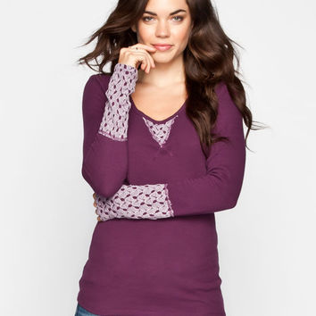 Others Follow Empire Womens Thermal Purple  In Sizes