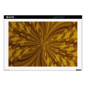 Abstract Butterfly Gold Laptop Skin