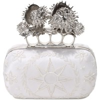 Embroidery Moon And Star Knuklebox Clutch Alexander McQueen | Clutch | Bags |