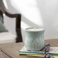 Hari design ceramic candle pot from Lombok