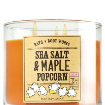 3-Wick Candle Sea Salt & Maple Popcorn